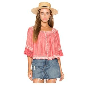 🆕 Free People See Saw Top. Red